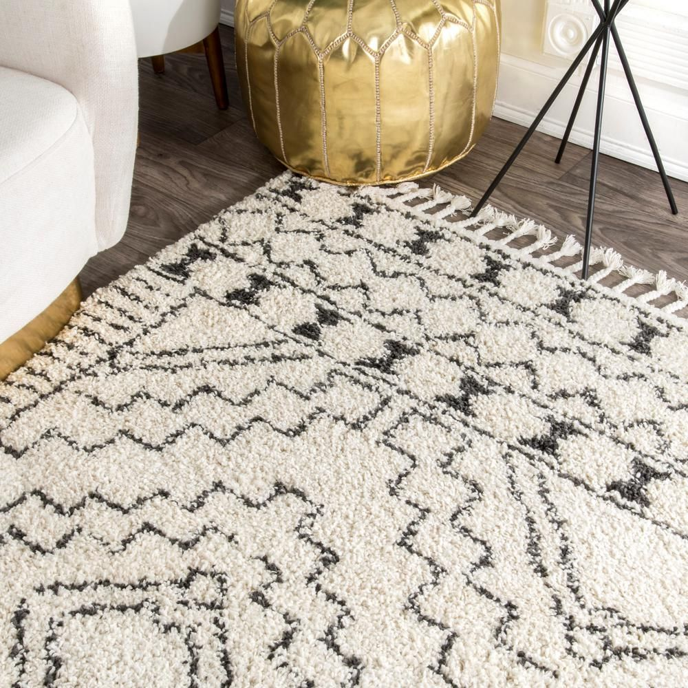 Nuloom Vasiliki Moroccan Tassel Shag Off White 8 Ft X 10 Ft Area Rug Gcdi02a 710010 The Home Depot In 2020 Shag Rug Living Room Rugs In Living Room Bedroom Area Rug