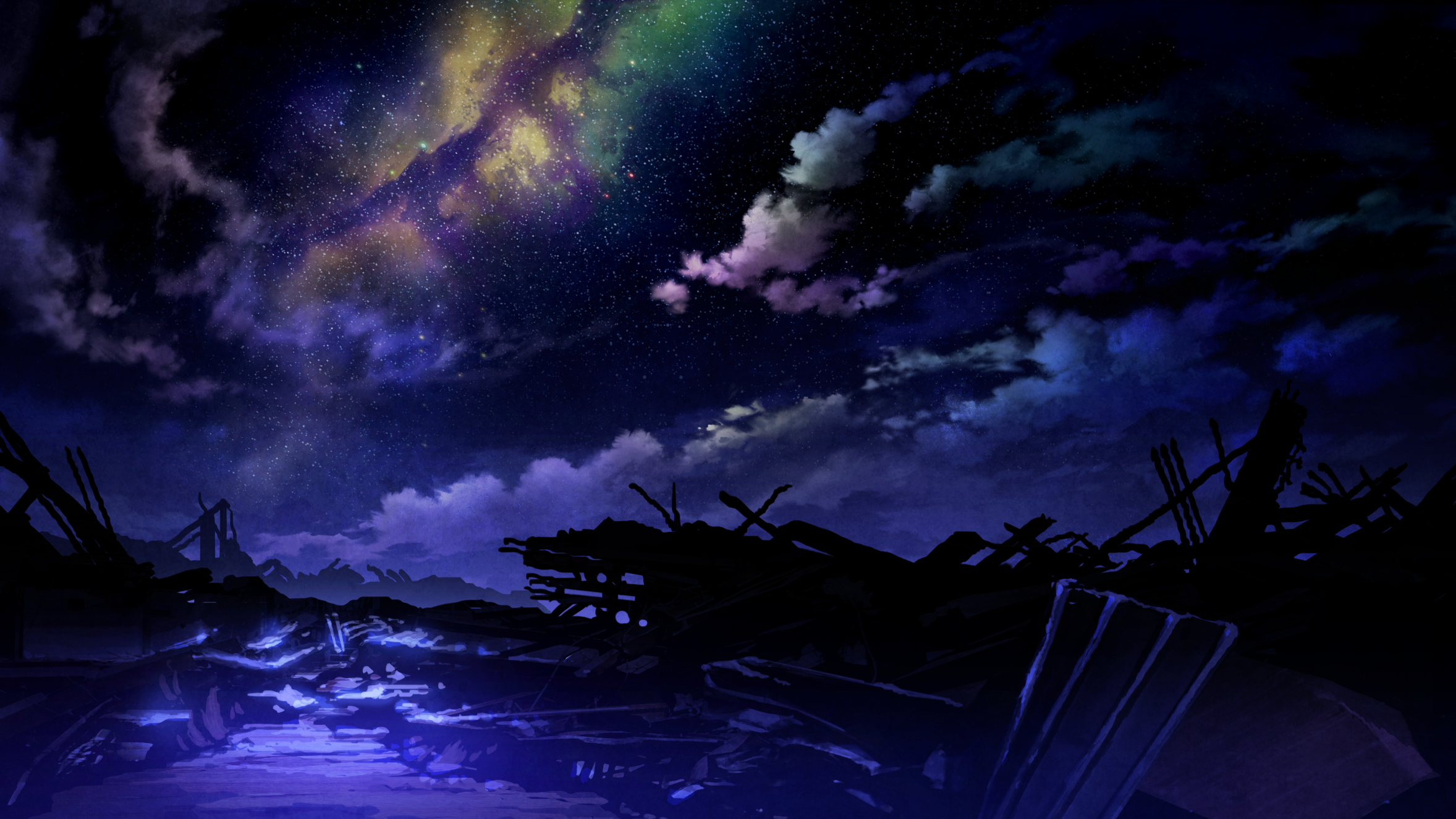 Anime Night Scene Wallpaper Collection 3309ta04 Night
