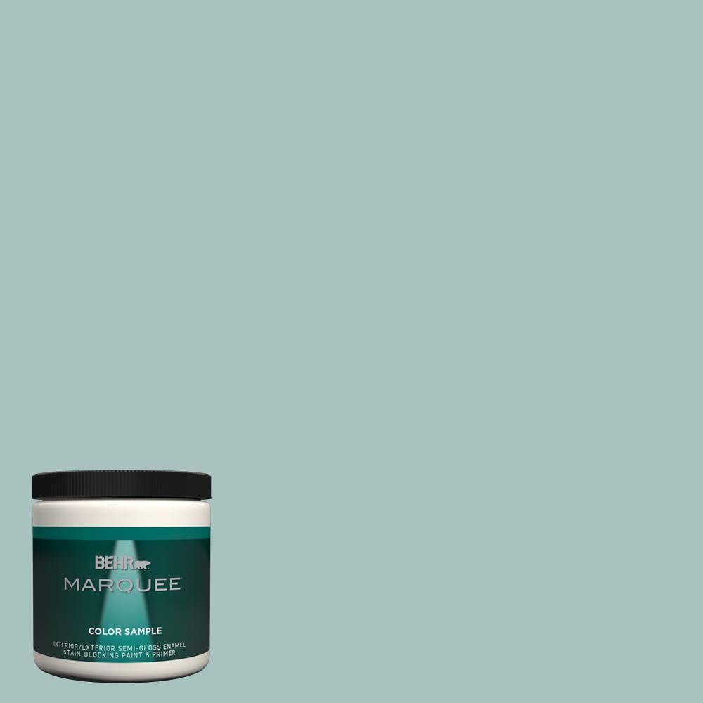 Behr Marquee 8 Oz T17 08 Polished Aqua Semi Gloss Enamel
