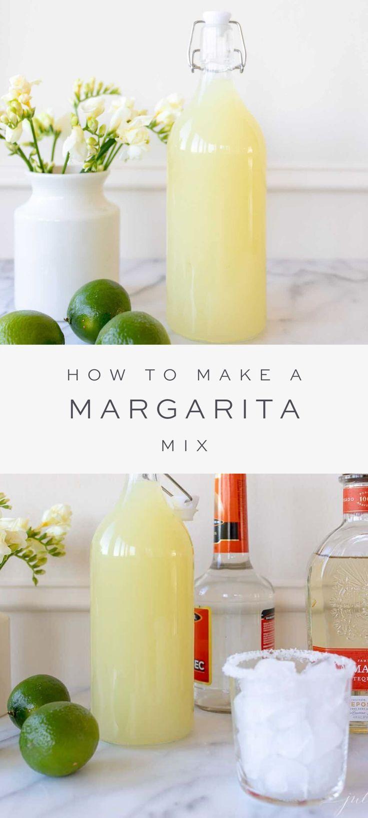 Fast & EASY Homemade Margarita Mix | Julie Blanner
