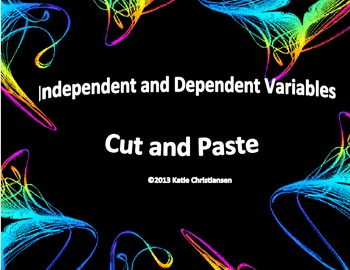 Independent And Dependent Variables Science Scientific Methos And