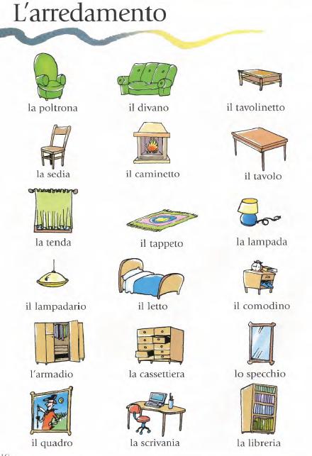 Categorie lingua italiana lingua e imparare l 39 italiano for Casa italia mobili