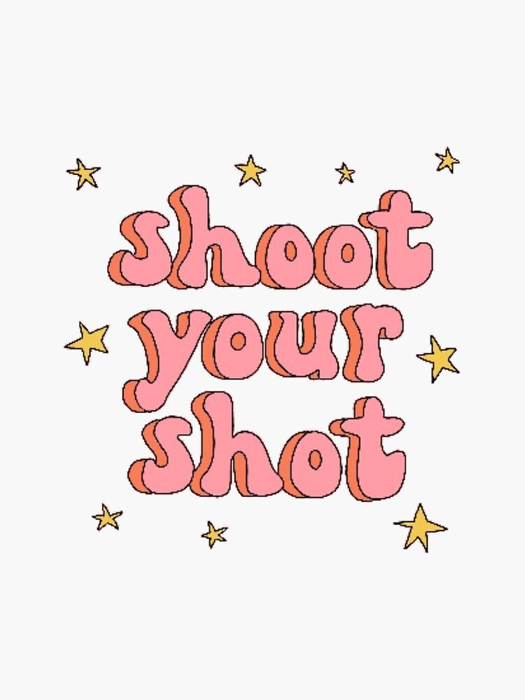 Shoot Your Shot Cutout Sticker By Kateduncann Redbubble Beer Pong Table Painted Diy Beer Pong Table Beer Pong Table Designs