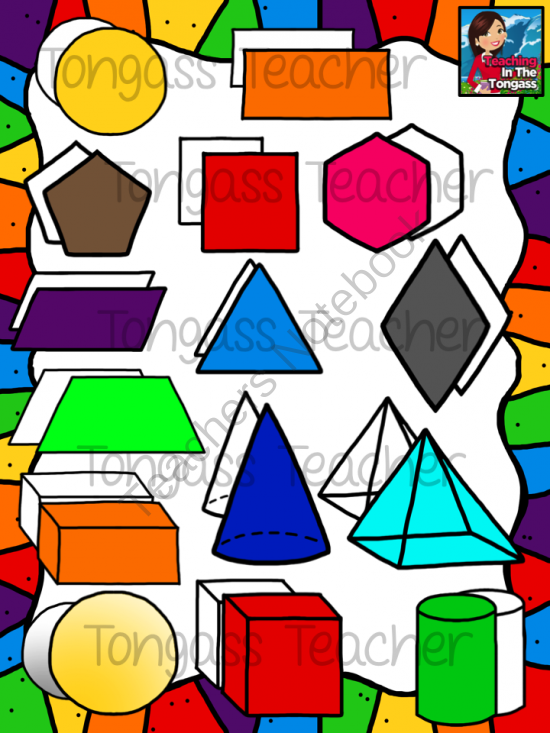 shapes clipart bundle from tongassteacher on teachersnotebook com rh pinterest com pyramid 3d shape clipart 3d cone shape clipart