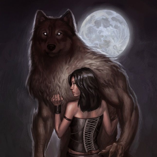 Картинки девочка обнимает волка