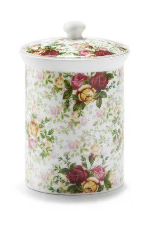 Royal Albert Country Rose Chintz Cookie Jar