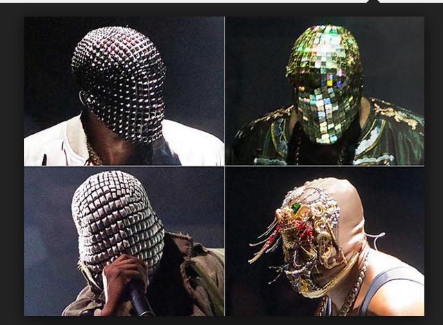 Pin By Nina Jorgensen On Performance Outfits Kanye West Mask Margiela Mask Yeezus
