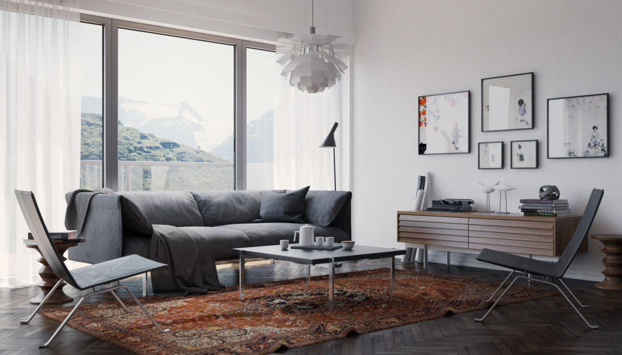 Scandinavian Interior, created by Matas Mačiulis.   Stunning 3D CG ...