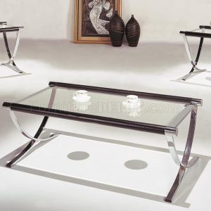 Chrome And Gl Coffee End Tables