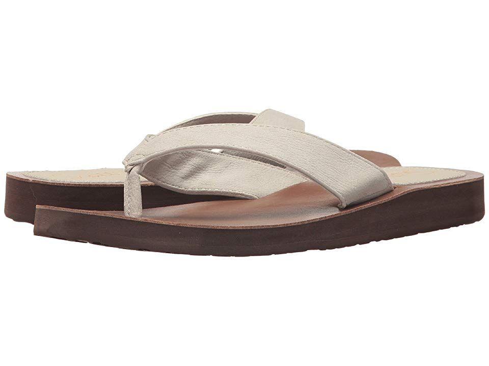 Scott Hawaii Hauoli Bone Womens Shoes Say hello to the ultimate beach comfort and style of the Scott Hawaii Hauoli sandal Fauxleather upper and toe post Cushioned rubalon...