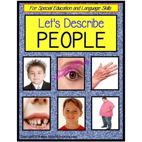 Describing Words About PEOPLE for Special Edu\u2026 wwwAutismEducators