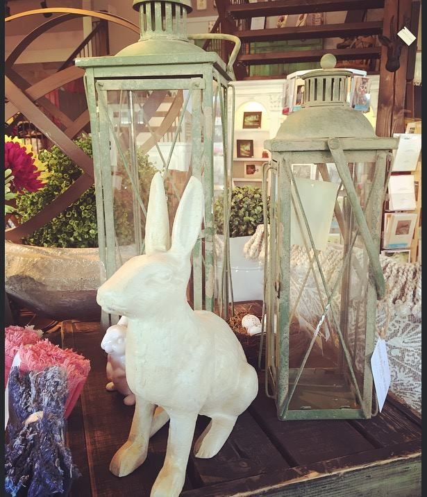 Lanterns create beautiful ambience both indoors and outdoors. With a vintage inspired finish, these green lanterns are a perfect addition any decor. Visit soon to pick from our collection of both candle and solar options!