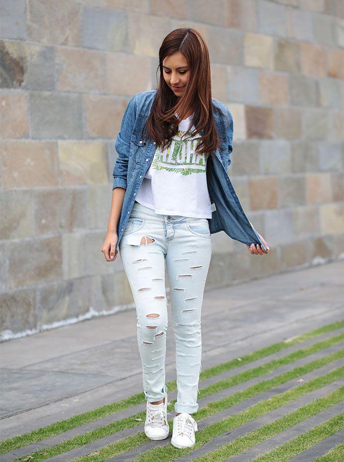 3 Looks Con Jeans Rotos Moda Saga Falabella Moda Jeans Rotos Moda Estilo