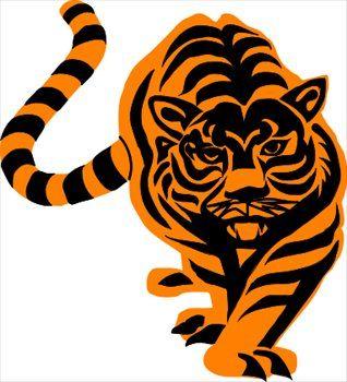 tiger paw clip art cool tiger clipart tiger paws pinterest rh pinterest com bengal tiger clipart free