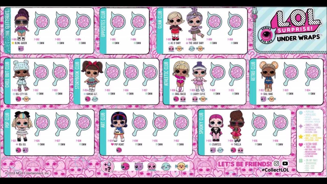 LOL Surprise série Spy Eye Under Wraps Capsule Poupée Grande Doll-Série Vite