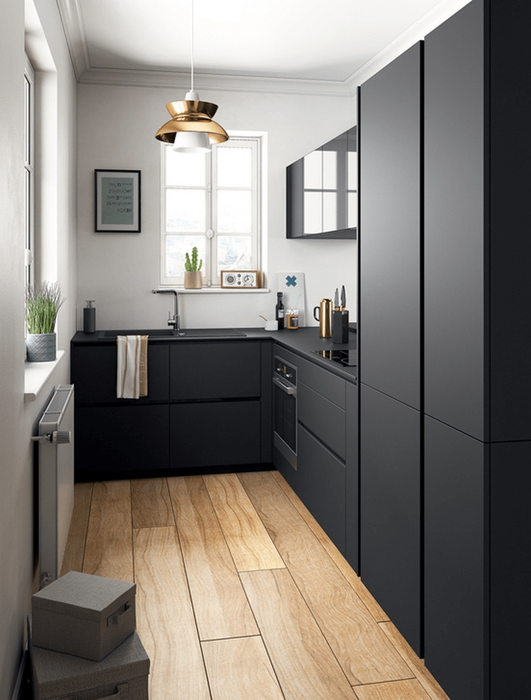 30 Lovely Small Kitchen Design Ideas 2019 Small Kitchen Remodel Design Ideas Kit… - Harry