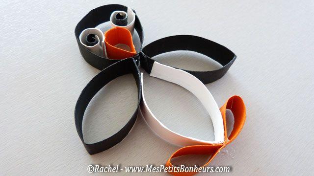 Bricolage pingouins en recyclage de rouleaux sopalin ou WC – rigolo !