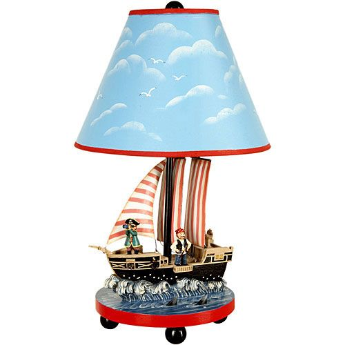 Pirate Ship Table Lamp Kids Table Lamp Table Lamp Childrens Table Lamps