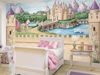 Enchanted Kingdom Castle Wall Mural Future Real Estate Pinterest