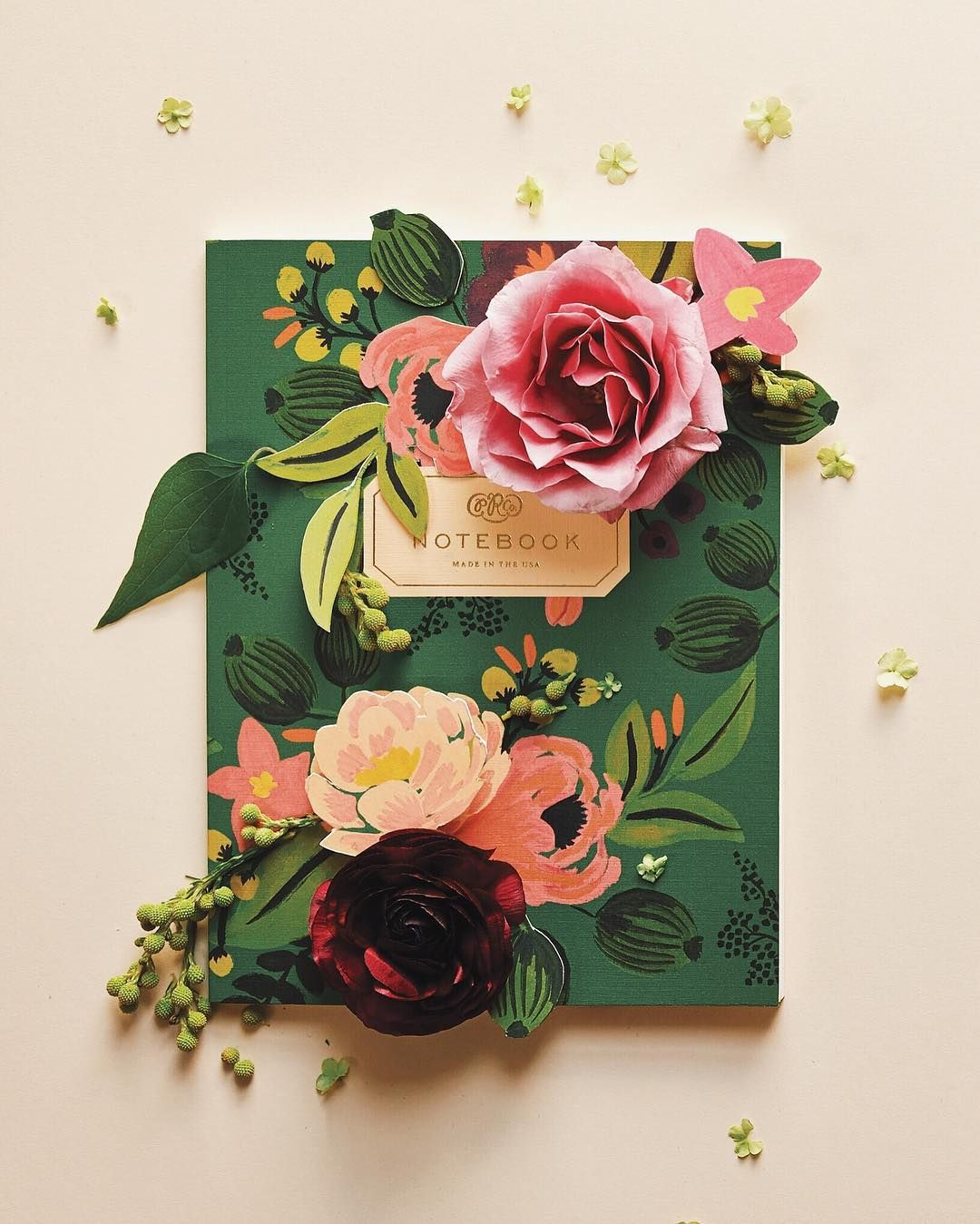 anna rifle bond notebook pink roses and garden inspiration