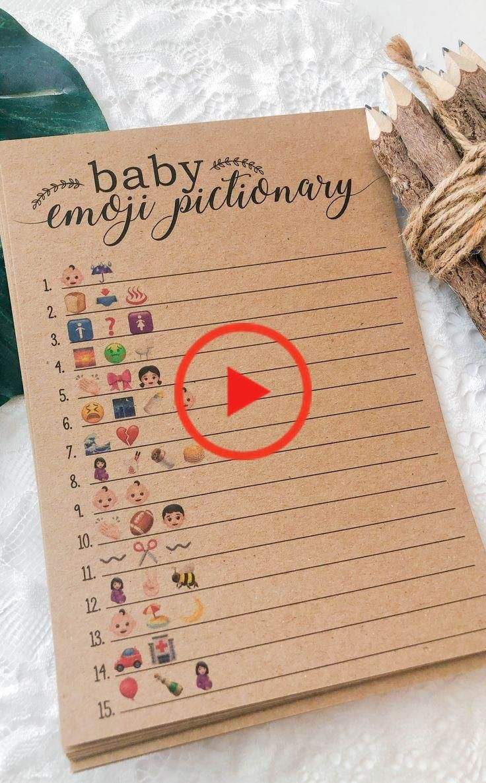 Baby Shower Emoji Pictionary, Baby Emoji Pictionary ...
