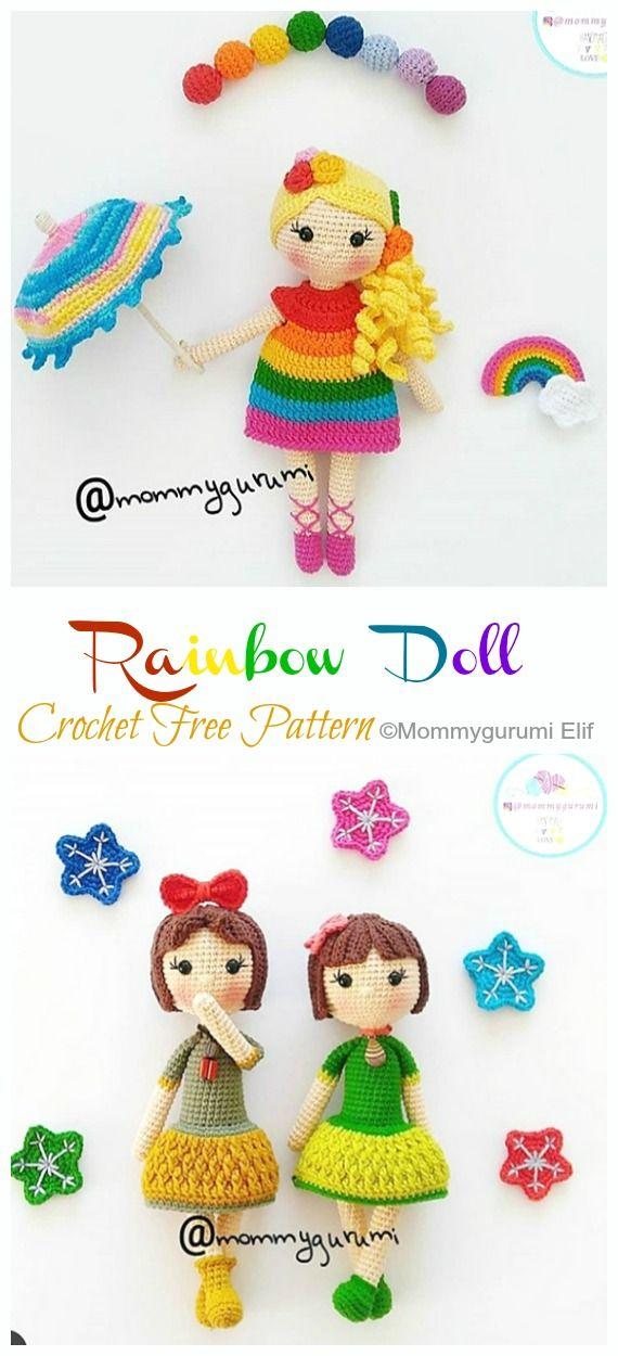Amigurumi Doll Girl Crochet Free Patterns - Crochet & Knitting