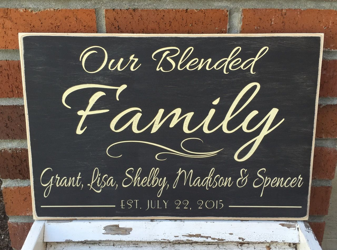 Plaques with name meanings - Heartwood Gifts Rustic Blended Family Name Sign Personalized Blended Family Name Plaque 12