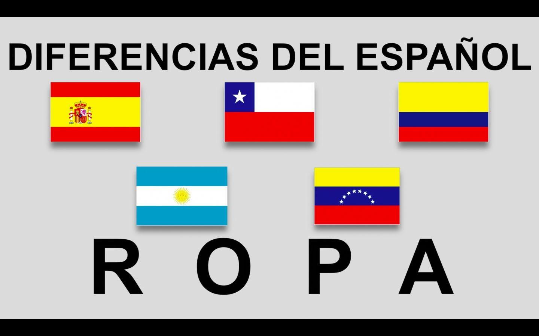 Video Diferencias Del Espanol Ropa Leccionespanol