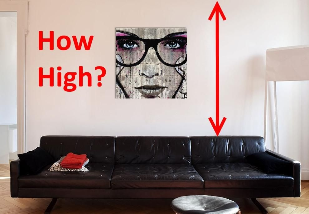 How high do you hang that canvas wall art with images