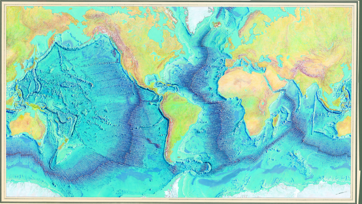 Marie Tharp The Woman Who Mapped The Ocean Floor World Ocean - Map of world oceans
