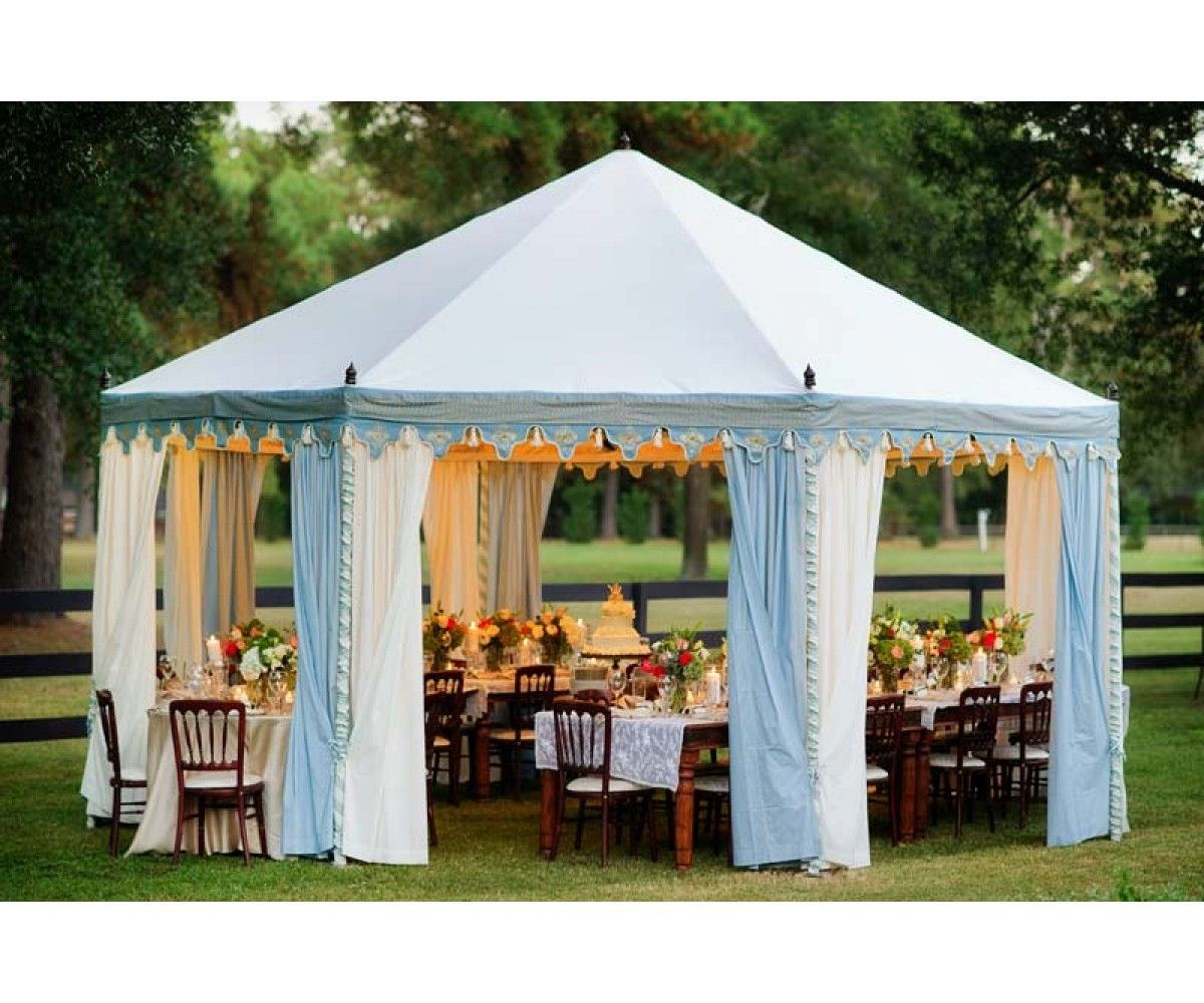 Intimate Rustic Backyard Wedding: Octagonal Pavilion