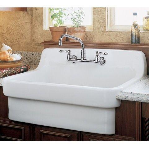 American Standard Wall Mount Farmhouse Sink 9062 008 Mounted Vitreous China Kitchen