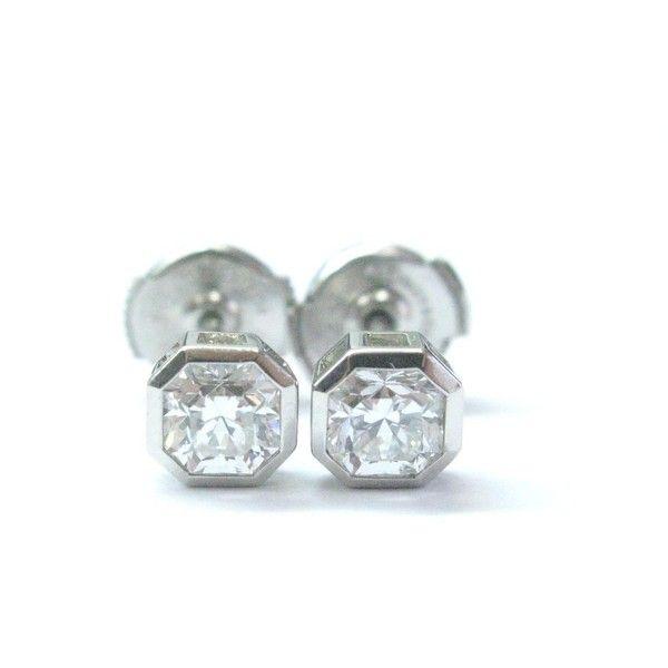 Pre Owned Tiffany Co Platinum Lucida Diamond Bezel Set