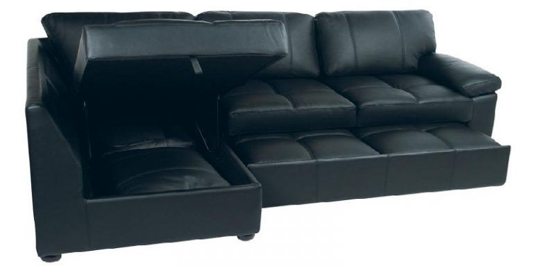 Sofas For Sale Black Faux Leather Sectional Sofa Bed with Left Facing Storage Chaise
