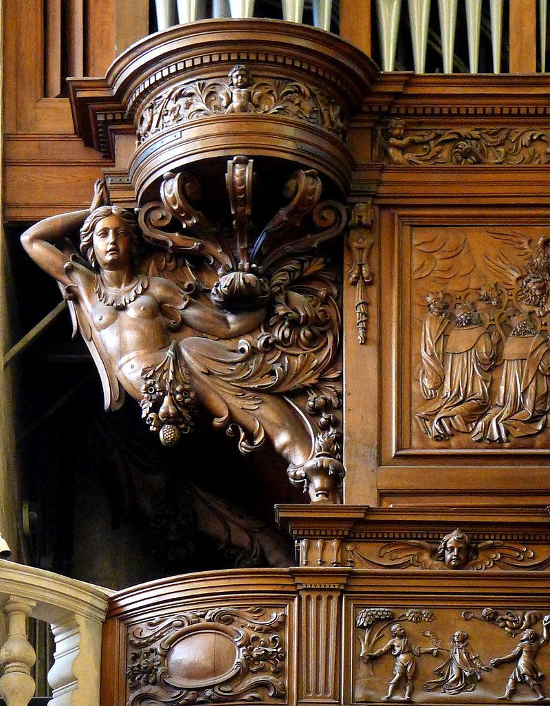 P1310081 Paris V Eglise St Etienne Orgue Buffet Detail Rwk Eglise Saint Etienne Du Mont De Paris Wikipedia En 2020 Bois Sculpte Eglise