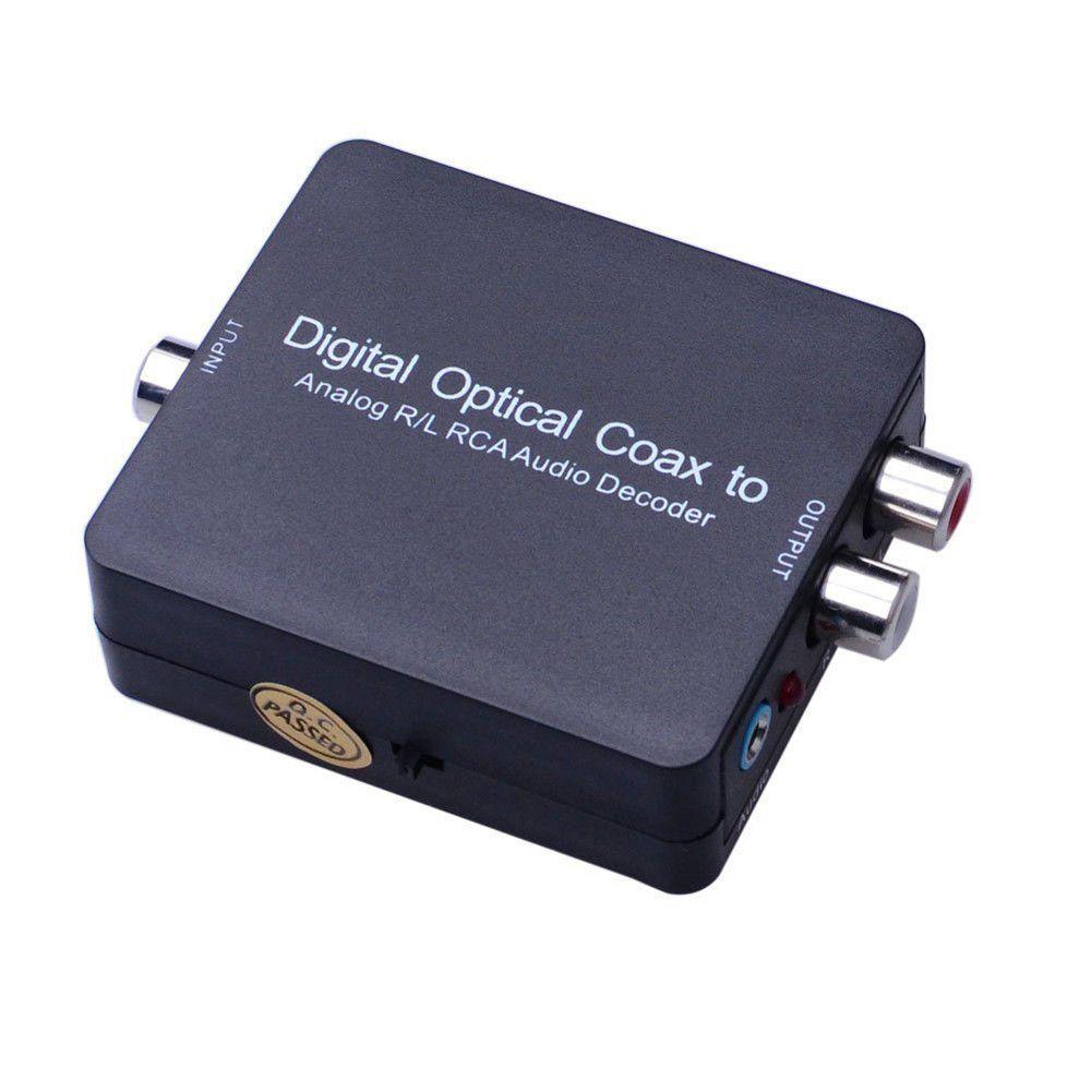 5.1 DolbyDTS Digital to Analog Audio Converter Adapter Optical Coaxial Digital Audio to Analog RL RCA Audio Decoder Converte