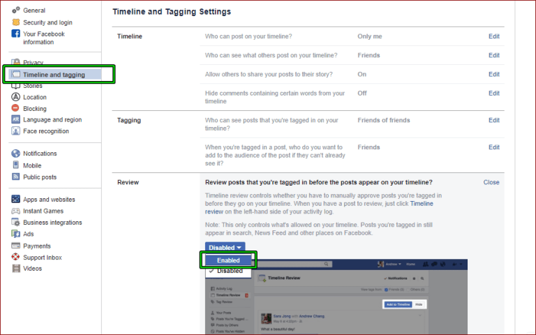 How To Turn Off Facebook Tagging Or Enable Review Apsole In 2020 Turn Off Told You So Turn Ons