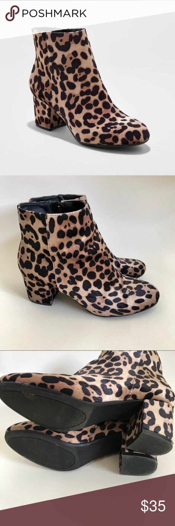 a new day leopard booties