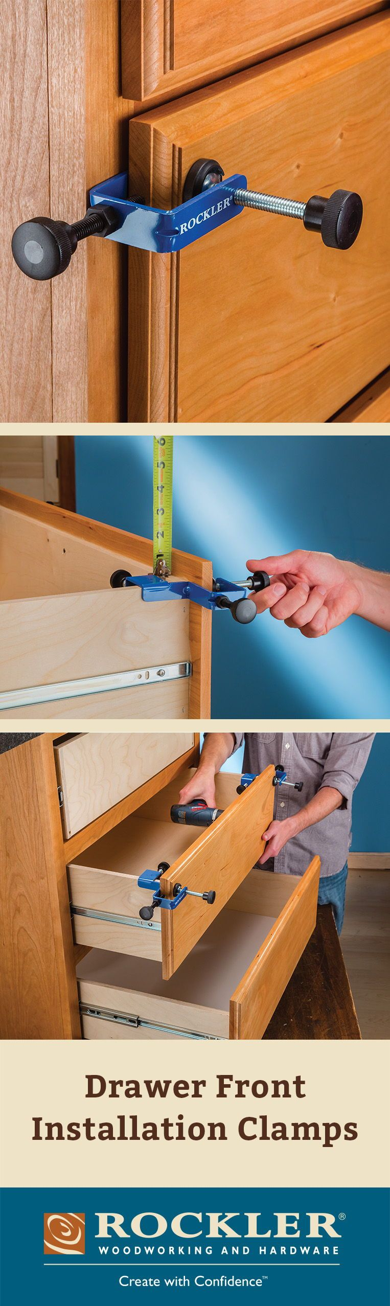 Drawer Front Installation Clamps Diy Wood Box Woodworking Drawer Fronts
