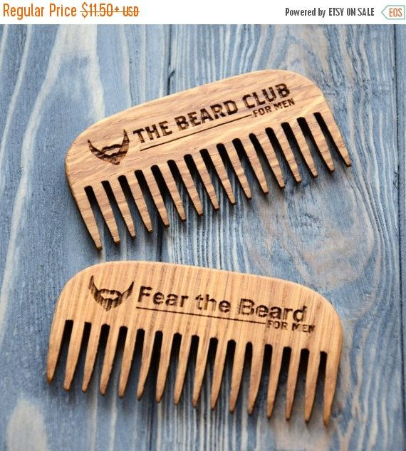 On Beard Comb Personalized Custom Engraved Wooden For Men Him