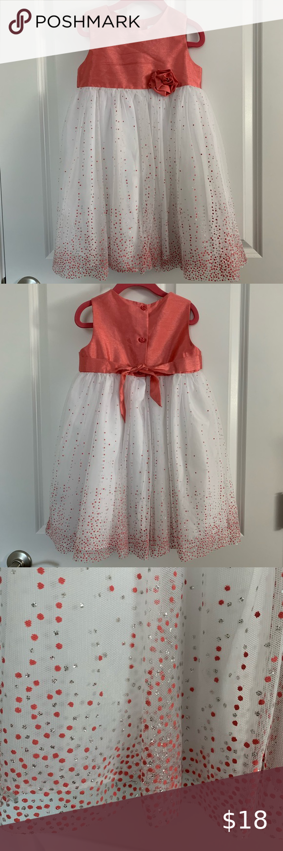 George Coral White Dress 5t Dresses 5t White Dress Party Everyday Dresses [ 1740 x 580 Pixel ]