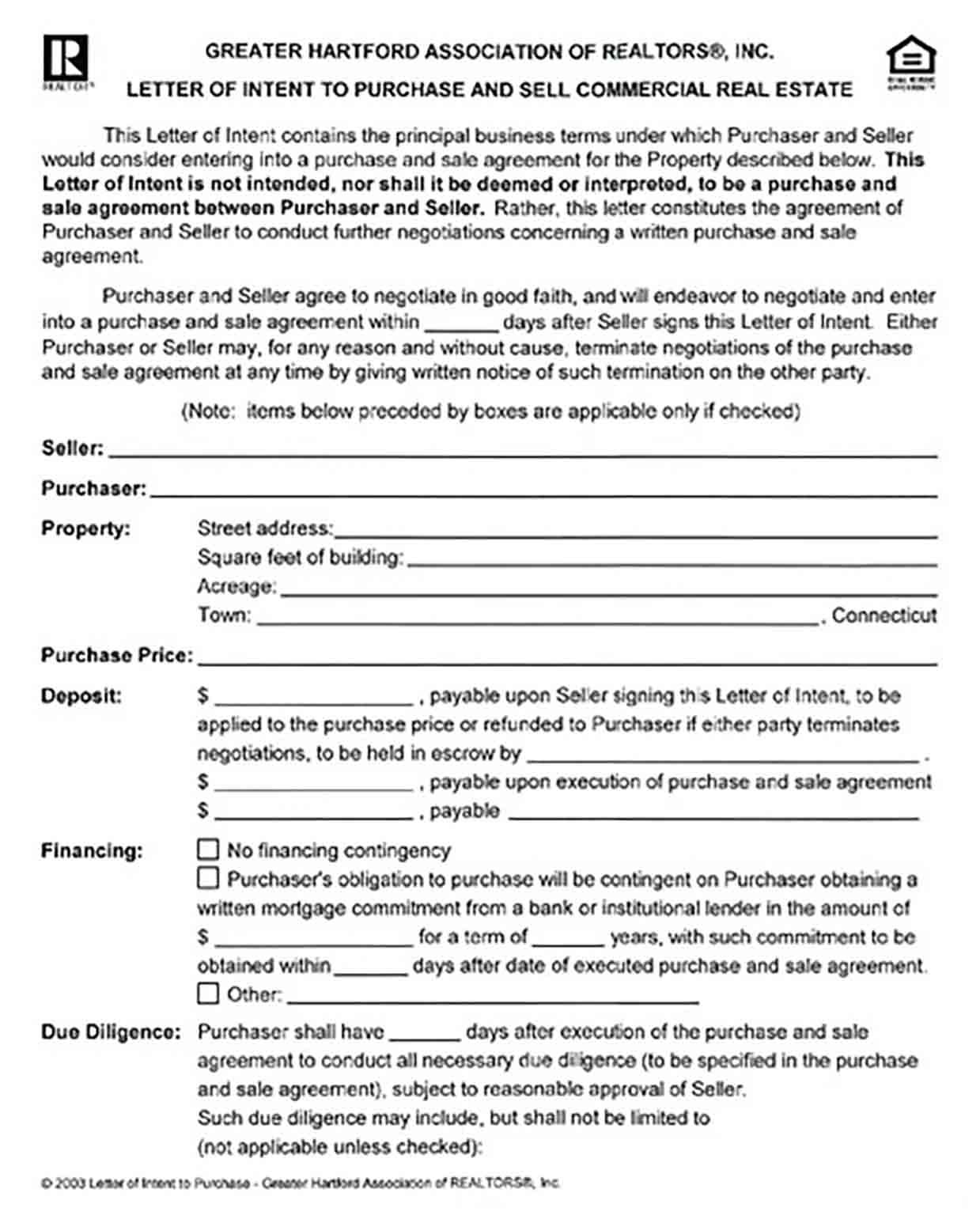 Letter Of Intent To Purchase Commercial Real Estate Letter Of Intent Lettering Intentions