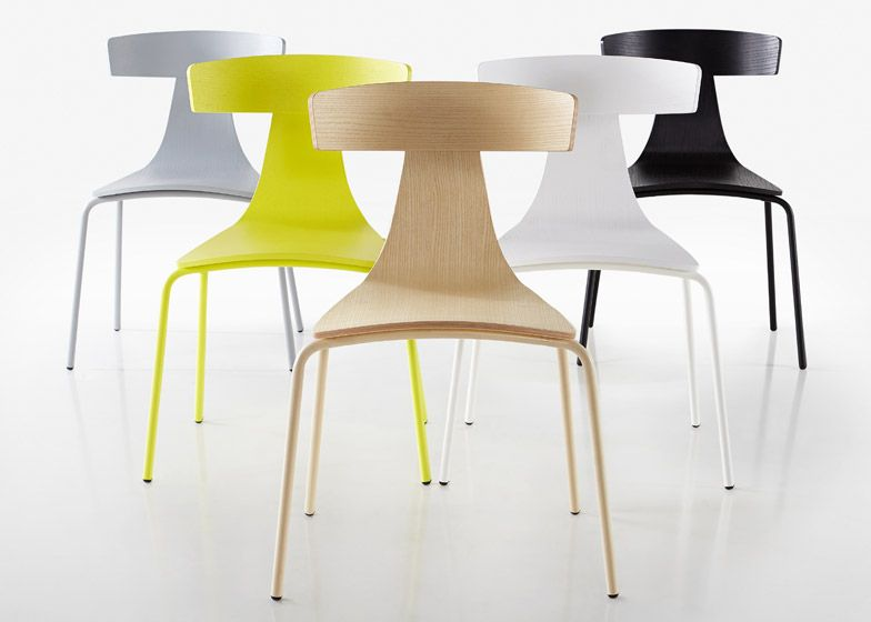 Konstantin Grcic S Remo Chair For Plank Features A T Shaped Back