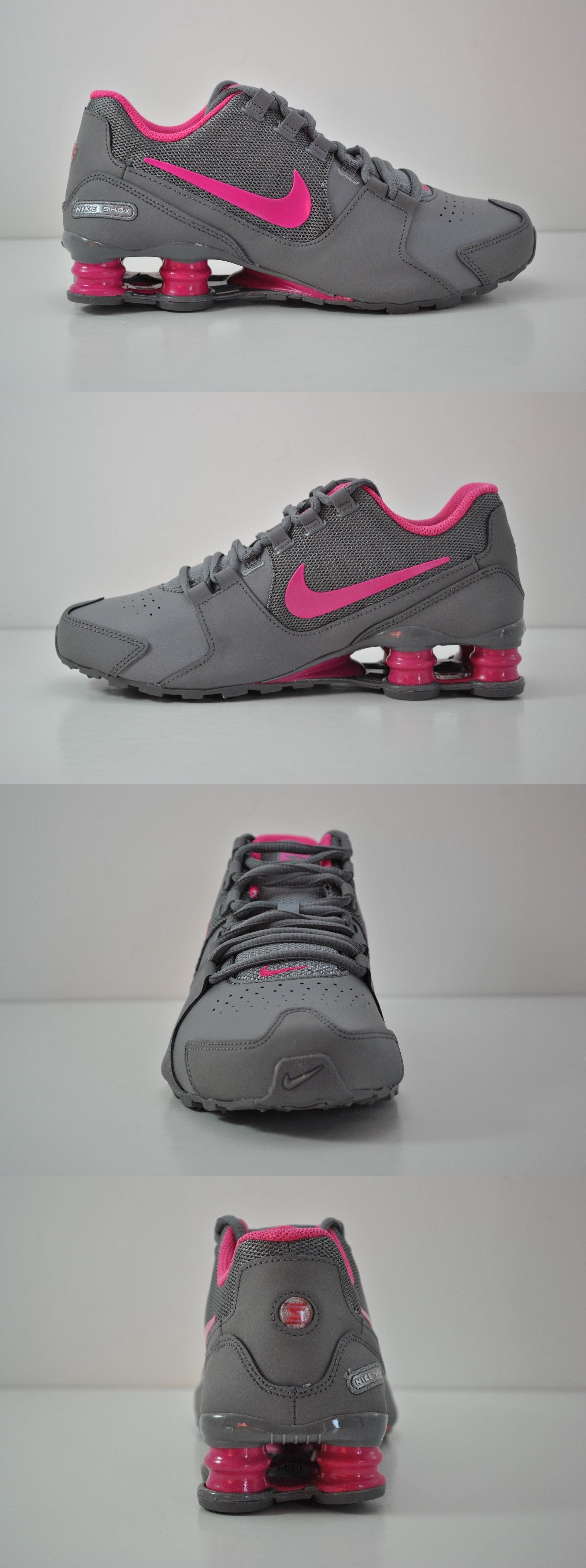 Unisex Shoes 155202: Youth Nike Shox Avenue Gs Running Shoes Size 6Y Grey  Hot Pink