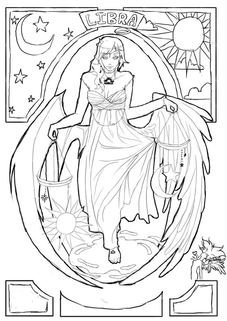 Libra By Ravenmadison17 Detailed Coloring Pages Coloring Books Coloring Pages