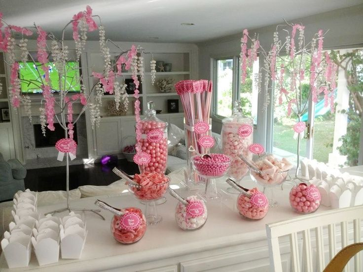 Candy Buffet Jars | Pink Valentines Day Candy Buffet for ...