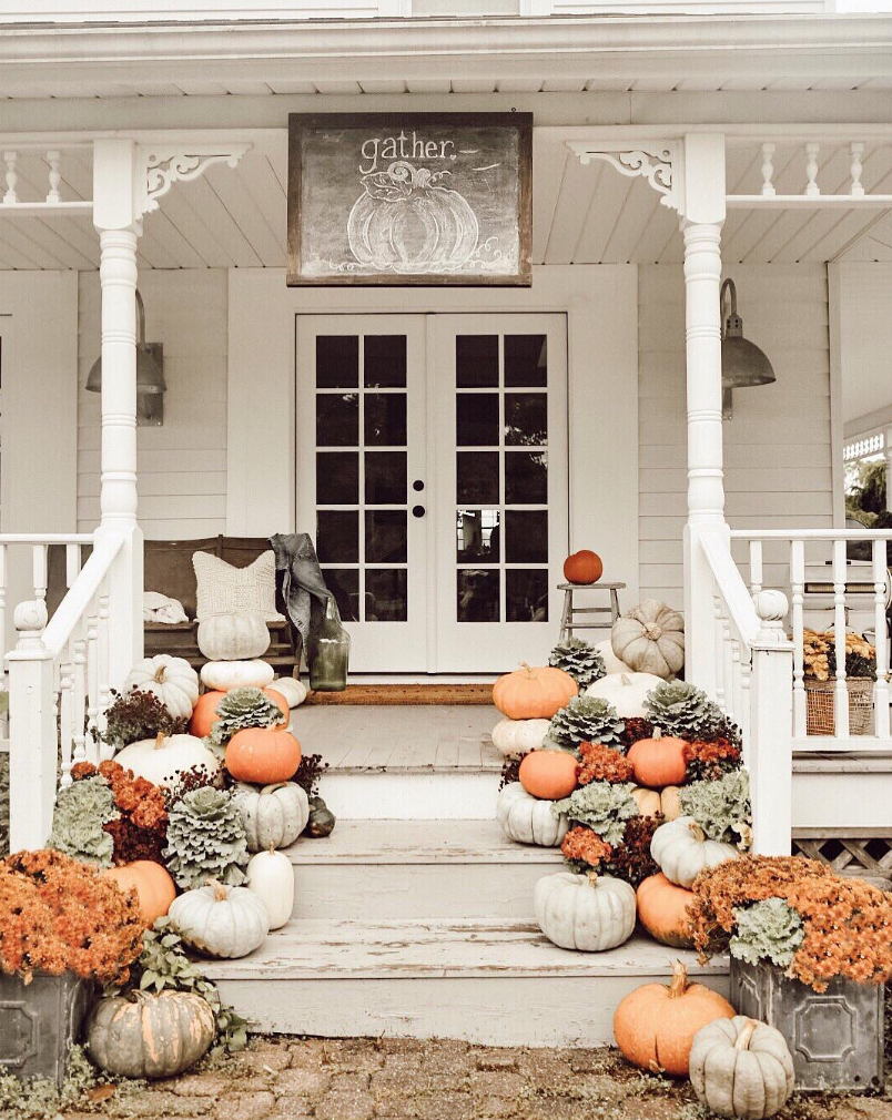 Cute Front Porch Decor Ideas For Fall  Fall decorations porch