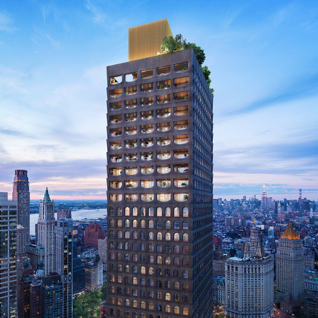 adjaye david york william 130 skyscraper glass brick stone projects tower architects facades architecture manhattan concrete dezeen building nyc buildings