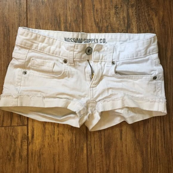White Shorts Worn but in great shape! Mossimo Supply Co Shorts