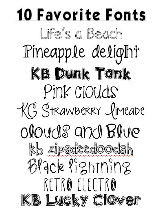 10 Favorite Fonts of: DukesAndDuchesses ~~ {10 Free fonts w/ easy